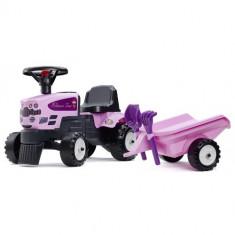 Tractoras fara Pedale Baby Princess cu Remorca, Lopata si Grebla, Falk
