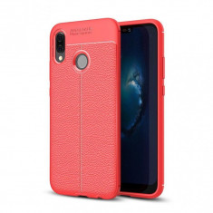Husa Huawei P20 Lite Tpu Grain - Husa Telefon Huawei, Culoare: Rosu, Gel TPU, Carcasa