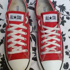 Converse All Star originali, high top, nr.42, 5-27, 5 cm. - Tenisi barbati Converse, Culoare: Rosu, Textil