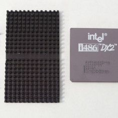 Procesor CPU de colectie Intel 486-DX2 486 DX2-66 + radiator + clema