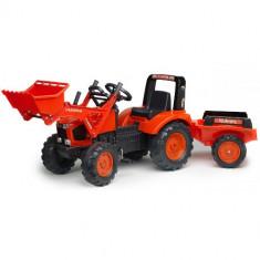 Tractor Kubota cu Cupa si Remorca, Falk