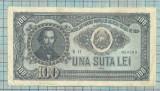 BANCNOTA -100 lei 1952 seria  h11...709