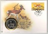 Senegal. 1986  Protejarea naturii-Gazela FDC,medalie  DC.426