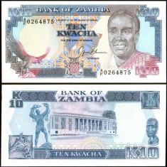 Zambia 1989 - 10 kwacha UNC