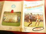 Program Fotbal  Steaua- Kuusysi Lahti 1986- Cupa Camp. Europeni ,2 decupaje