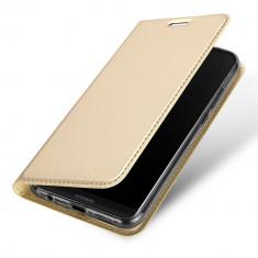 Husa Huawei P20 lite Dux Ducis din piele eco - Husa Telefon Huawei, Auriu, Piele Ecologica