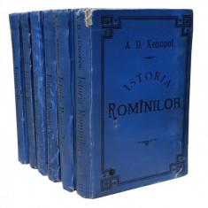 ISTORIA ROMANILOR de ALEXANDRU D. XENOPOL (PRIMA EDIȚIE, 12 VOLUME, 1896) - Carte veche