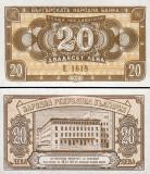 !!!  RARR :  BULGARIA  -  20 LEVA 1950  -  P 79  - UNC