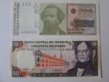 Lot 2 bancnote UNC 1988:Argentina=500 Australes + Venezuela=50 Bolivares