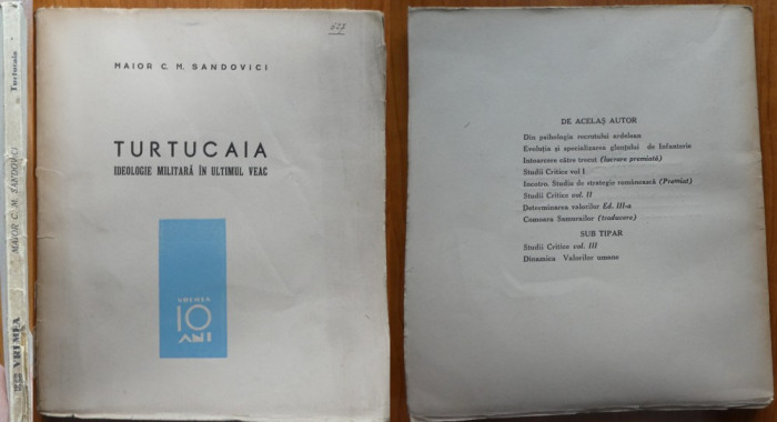 Maior Sandovici , Turtucaia , ideologie militara in ultimul veac , 1938 , ed. 1