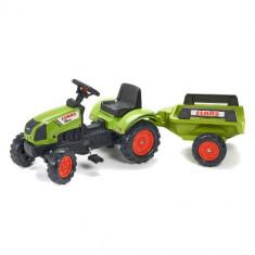 Tractor Claas cu Pedale si Remorca Falk