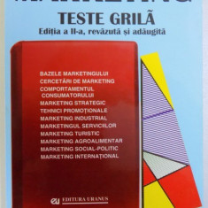 MARKETING - TESTE GRILA, EDITIA A - II -A, coordonator VIRGIL BALAURE, 2000 - Carte Marketing