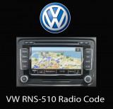 Decodare Pin Cod Siguranta RNS510 Navigatie Originala VW