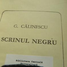 Scrinul negru, George Calinescu. Editura pentru literatura, 1968. Roman