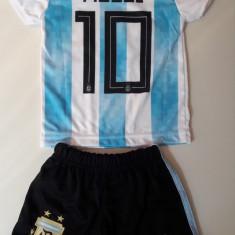 Echipament fotbal pentru copii Argentina Messi marimi mici 1-3 ani, Marime: Alta