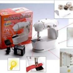 Masina de cusut electrica Mini Sewing Machine portabila cu bec