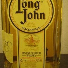 Whisky DECANTER LONG JOHN, FINEST SCOTCH WHISKY cl 70 GR 40 ANI 90