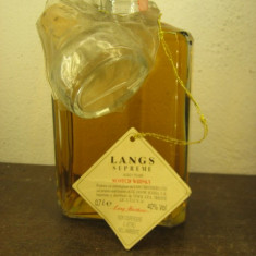 Whisky DECANTER LANG SUPREME, SCOTCH WHISKY, AGED 5 YEARS cl 70 GR 40 ANI 90
