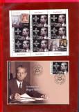 ROMANIA 2017-IN MEMORIAM REGELE MIHAI I-minicoala de 7 timbre+plic prima zi, Nestampilat