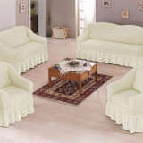 Set huse canapele si fotoliu 3.2.1. - Krem