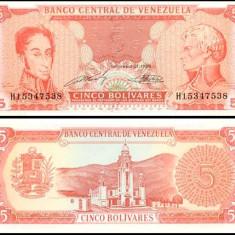 Venezuela 1989 - 5 bolivares UNC