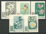 Polonia 1957 - flori, serie neuzata