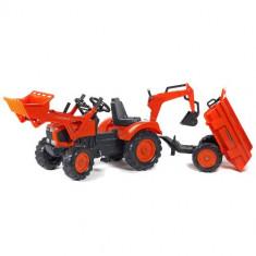 Tractor cu Pedale Kubota cu Cupa, Remorca, Excavator si Scaun Rotativ Falk
