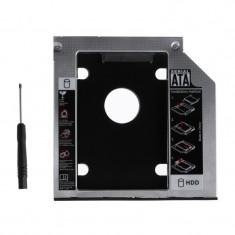 Rack HDD Caddy pentru laptop grosime 9.5mm interfata Sata la Sata - Suport laptop
