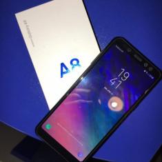 Samsung Galaxy A8 2018 - Telefon Samsung, Negru, Neblocat, Dual SIM