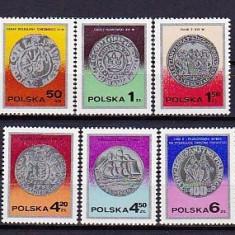 POLONIA 1977 – MONEDE DE ARGINT VECHI, serie nestampilata, PN5 - Timbre straine