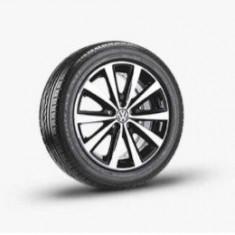 Jante VW Syenit 7J x 16 + Anvelope Iarna Continental TS830P - 195/55 R16 - Janta aliaj Volkswagen, Latime janta: 7, Numar prezoane: 5, PCD: 100