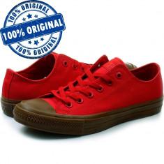 Pantofi sport Converse Chuck Taylor All Star II Ox pentru barbati - tenisi panza, 41 - 43, Rosu, Textil