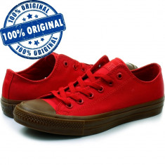 Pantofi sport Converse Chuck Taylor All Star II Ox pentru barbati - tenisi panza, 40, 41, 42, 43, 44, Rosu, Textil