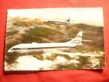 Ilustrata - 2 Avioane Caravelle cu reactie , semnat Raymon