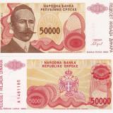 BOSNIA-HERTEGOVINA 50.000 dinara 1993 BANJA LUKA UNC!!!