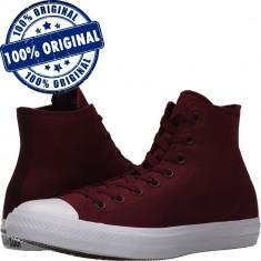 Pantofi sport Converse Chuck Taylor All Star II Hi pentru femei - tenisi panza, 35, 36, Visiniu, Textil