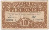 DANEMARCA 10 KRONER COROANE 1942 VF