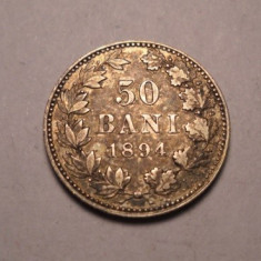 50 bani 1894 Piesa de Colectie - Moneda Romania