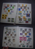 Ts227 Clasor A4 cu timbre stampilate, tari diverse
