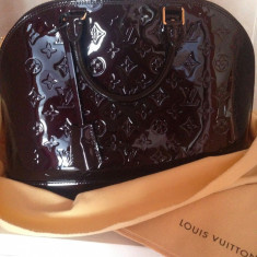 Geanta Louis Vuitton Amarante Monogram Vernis Leather Alma PM - Geanta Dama Louis Vuitton, Culoare: Din imagine, Marime: Mare