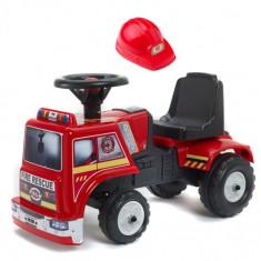 Masina de Pompieri fara Pedale Baby Fire Rescue cu Casca de Protectie, Falk