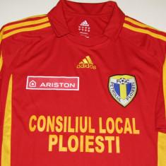 Tricou fotbal FC PETROLUL PLOIESTI (sezonul 2011/2012) nr.15 V. Barbulescu - Tricou echipa fotbal, Marime: M, Culoare: Rosu, De club, Maneca scurta