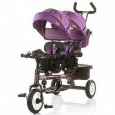 Tricicleta gemeni 1, 5 Ani+ Chipolino Apollo Very Berry - Tricicleta copii
