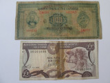 Lot 2 bancnote colectie:Grecia=100 Drahme 1927(rara)+Cipru=1 Pound 1993(lipita)