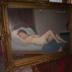 Pictura in ulei o lucrare foarte veche perioada anilor 1900 început