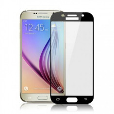 Folie protectie sticla securizata 4D ecran Samsung Galaxy A7 (2017) BLACK