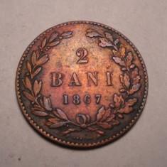 2 bani 1867 Heaton - Moneda Romania