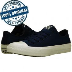 Pantofi sport Converse Chuck Taylor All Star II Ox pentru femei - tenisi panza, 35, 36, Albastru, Textil