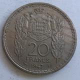(383) Moneda Monaco 20 francs 1947