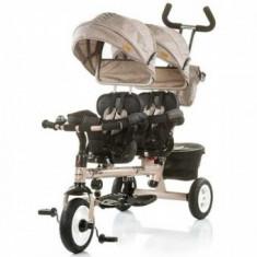 Tricicleta gemeni 1, 5 Ani+ Chipolino Apollo Beige - Tricicleta copii